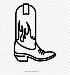 cowboy boot coloring page clipart [ 880 x 932 Pixel ]