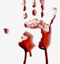 handprint blood dripping transparent background clipart [ 880 x 1180 Pixel ]