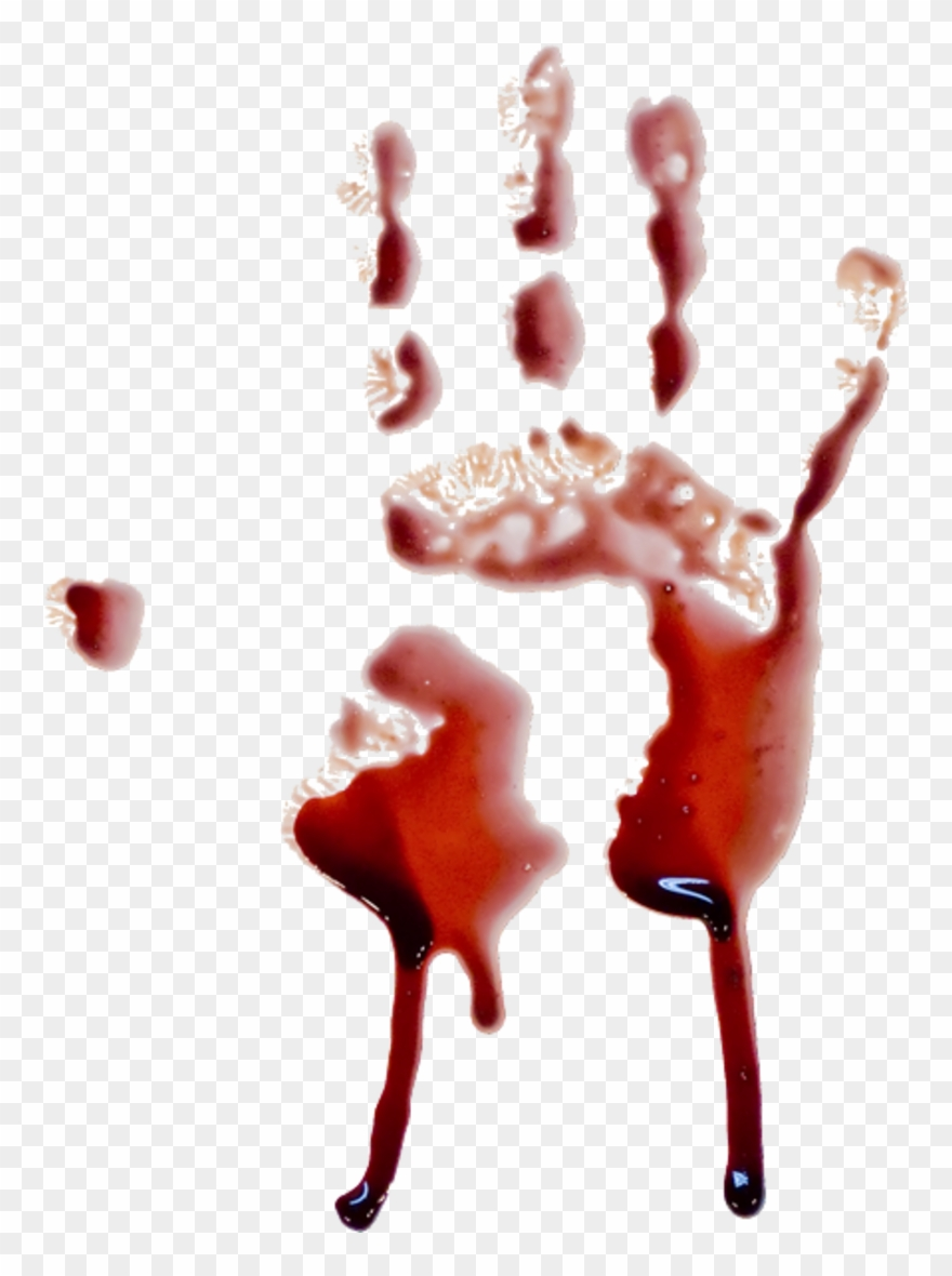 hight resolution of handprint blood dripping transparent background clipart