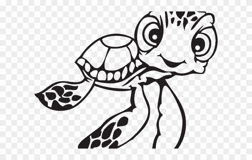 Drawn Sea Turtle Dory Drawing Sea Turtles Easy Clipart 3178770 Pinclipart
