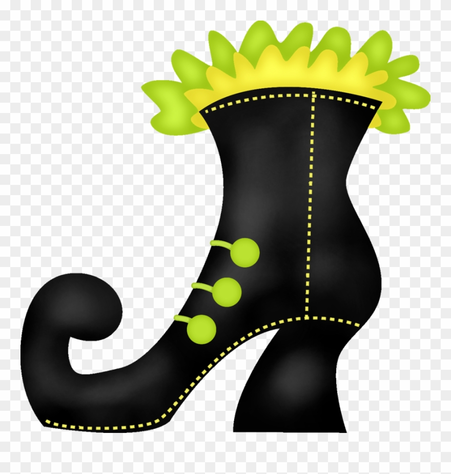 hight resolution of witch clipart boot witches shoe clip art png download