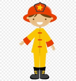 community helpers fire fighters say hello cute art firefighter clipart [ 880 x 980 Pixel ]