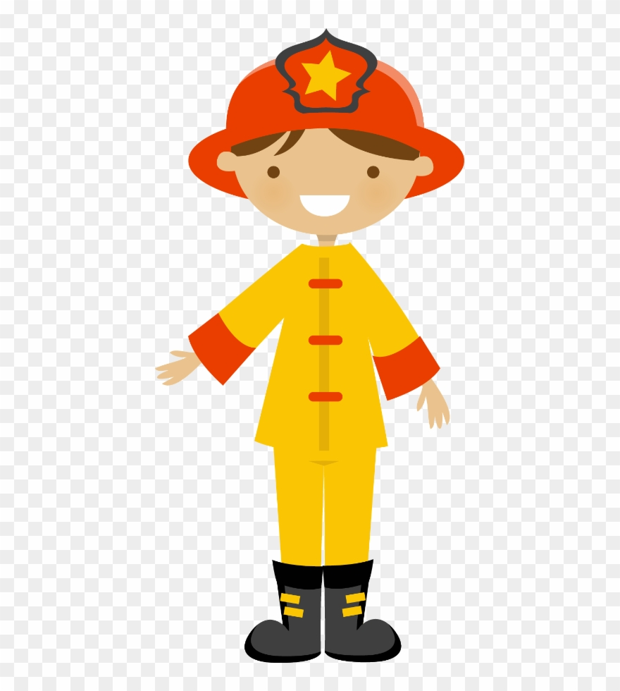 hight resolution of community helpers fire fighters say hello cute art firefighter clipart