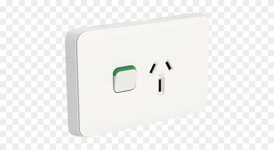 Clipsal Iconic Single Switch Socket Outlet, Horizontal