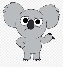 nomnom sticker we bare bears koala png clipart [ 880 x 959 Pixel ]