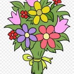 Bouquet Clipart Fun Flower Flower Bouquet Drawing Easy Png Download 3403580 Pinclipart