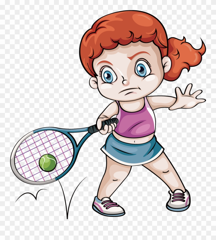 hight resolution of tennis racket clipart at getdrawings com free for personal girl playing tennis drawing png
