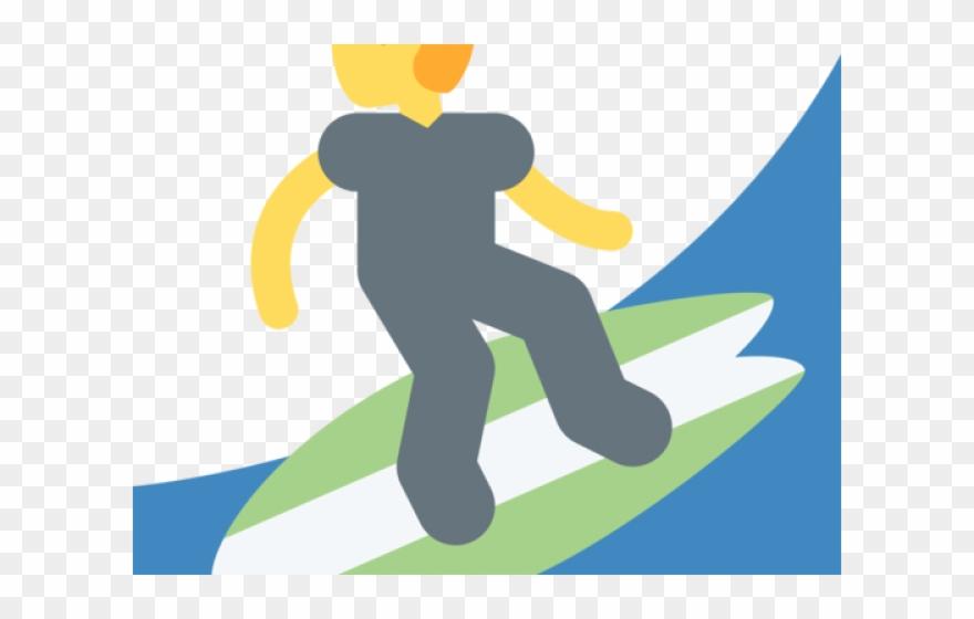 hand emoji clipart surfer
