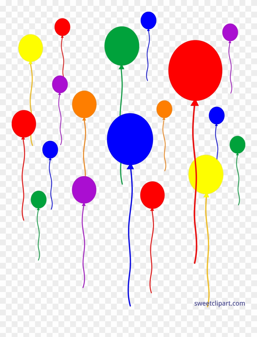 hight resolution of vector free download birthday party balloons clipart party clipart transparent background png download