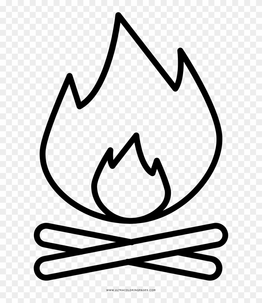 Campfire Coloring Page Clipart 3654501 Pinclipart