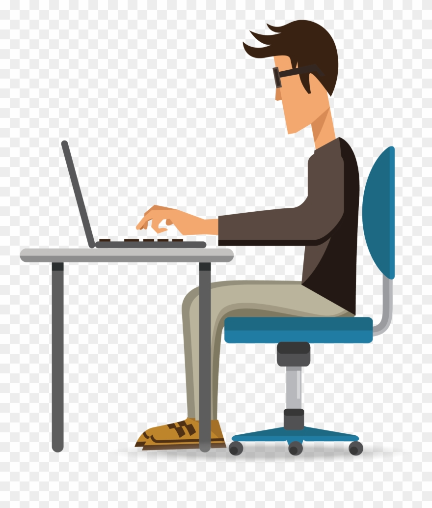 hight resolution of black and white stock secretary free on dumielauxepices man working on laptop vector clipart