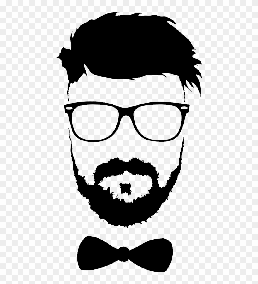 Hairstyle Beard Moustache Glasses Png File Hd Clipart