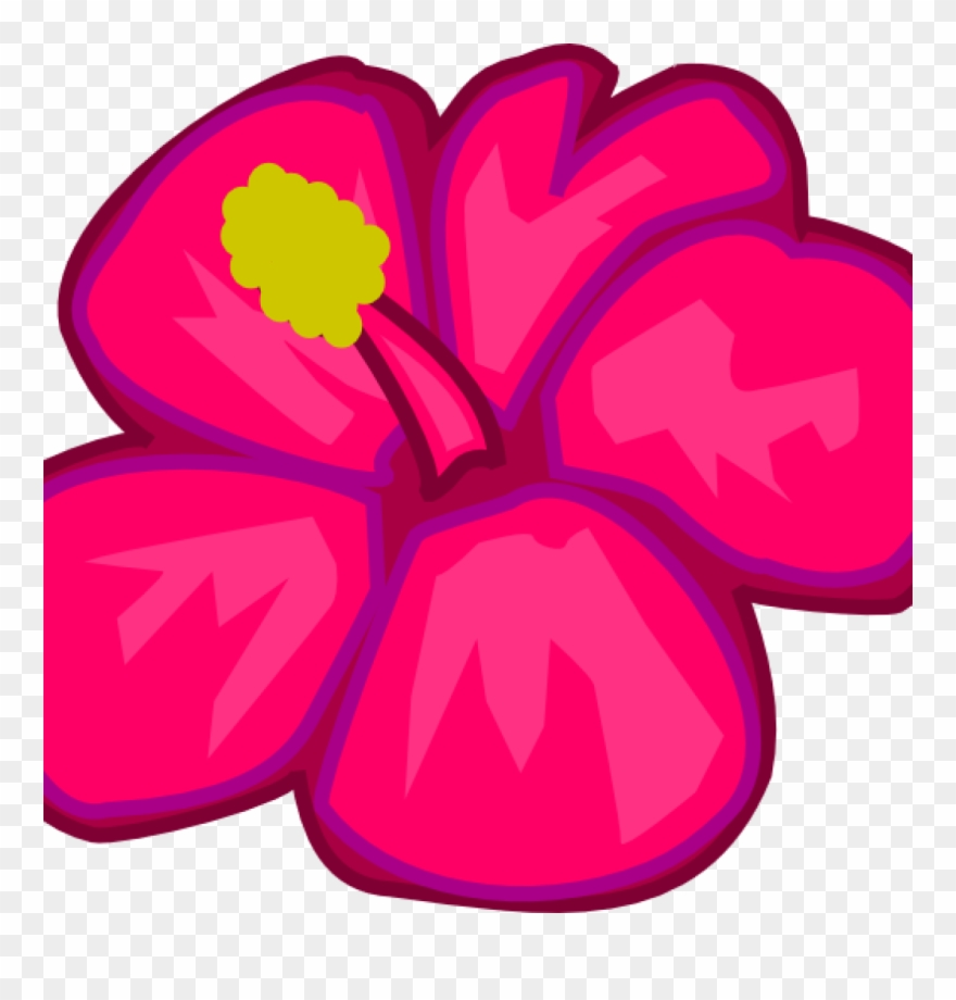 medium resolution of hawaiian flower clipart hawaiian flower clip art clipart draw a tropical flower png download