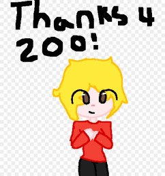 thank you for 200 followers ow o cartoon clipart [ 880 x 1061 Pixel ]