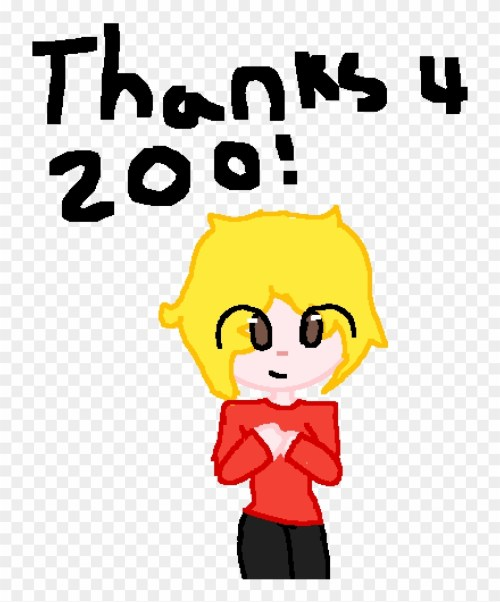 small resolution of thank you for 200 followers ow o cartoon clipart