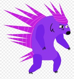 chara porcupine cartoon clipart [ 880 x 997 Pixel ]