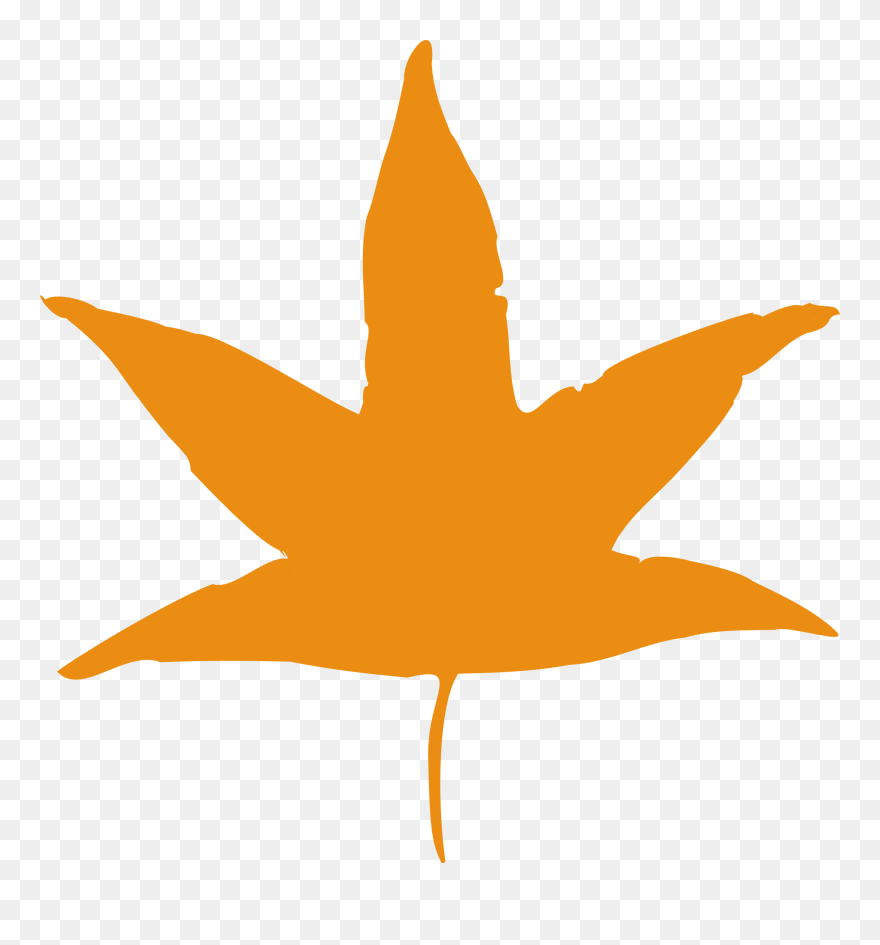 hight resolution of orange leaves clip art cartoon autumn leaf transparent png download