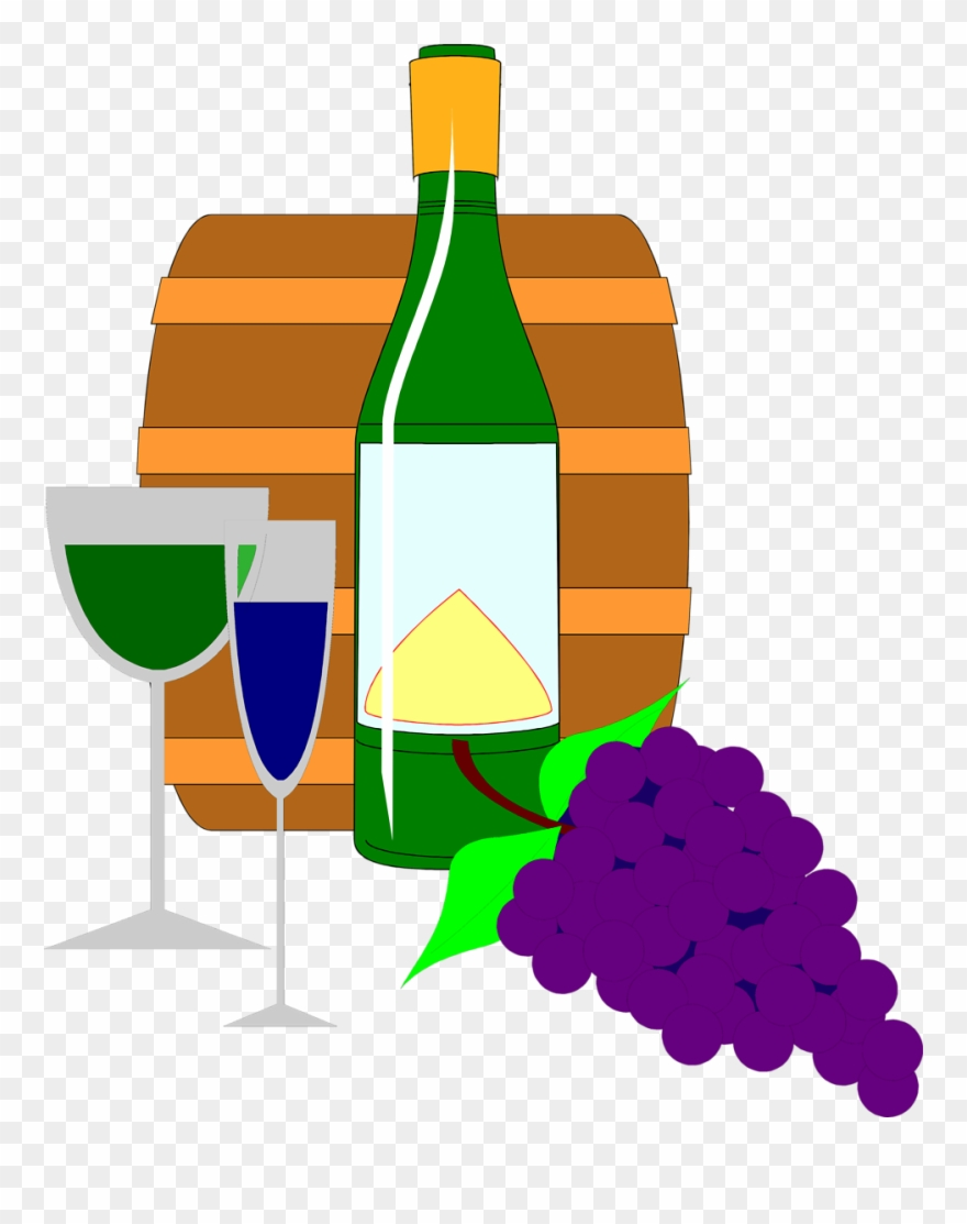 hight resolution of grapes and wine clipart wine bottle glass clip art png download