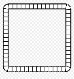 clipart film strip square frame frame clipart black and white png download [ 880 x 920 Pixel ]