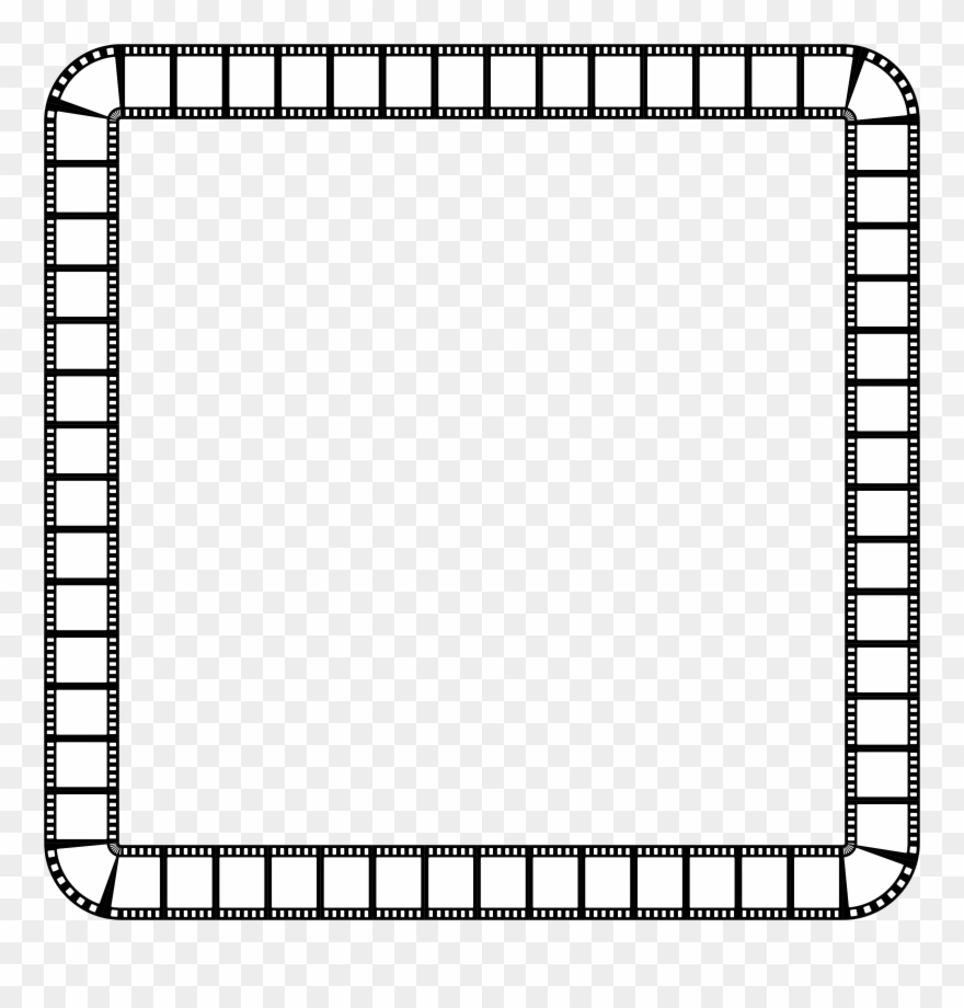 medium resolution of clipart film strip square frame frame clipart black and white png download