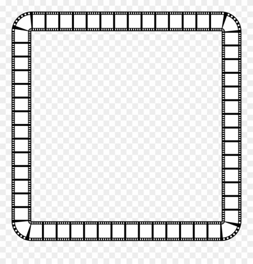 small resolution of clipart film strip square frame frame clipart black and white png download