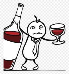 red wine drawing drunk man drinking red wine clipart [ 880 x 931 Pixel ]