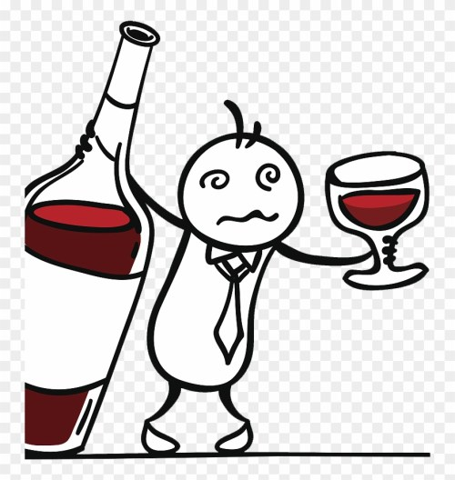 small resolution of red wine drawing drunk man drinking red wine clipart