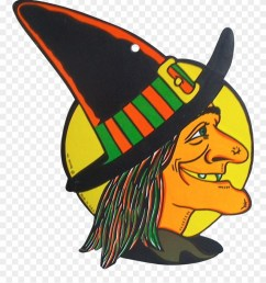 vintage beistle witch die cut halloween decor wall witch clipart [ 880 x 1025 Pixel ]