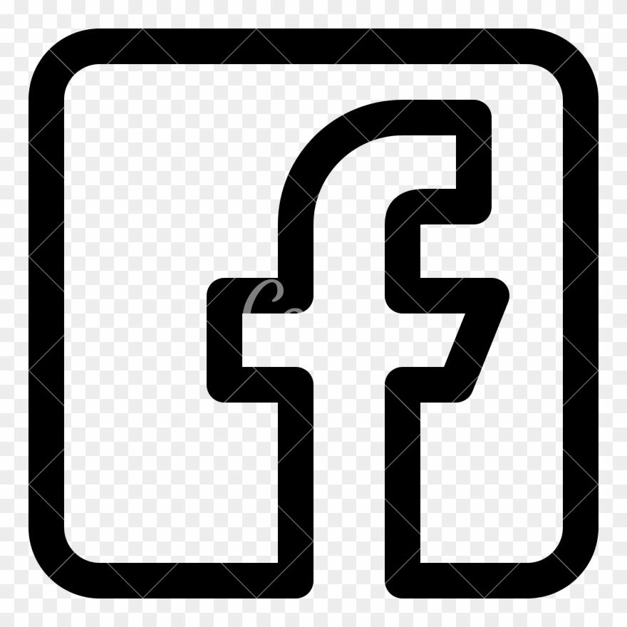 Facebook Logo Icons By Canva Facebook White Logo Vector Clipart 4217857 Pinclipart