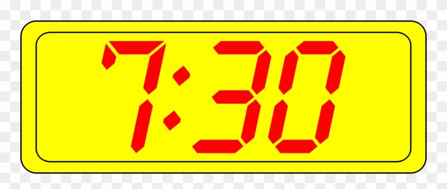 big image digital clock