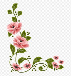 vintage flower clipart flower painting flower layout png download [ 880 x 909 Pixel ]