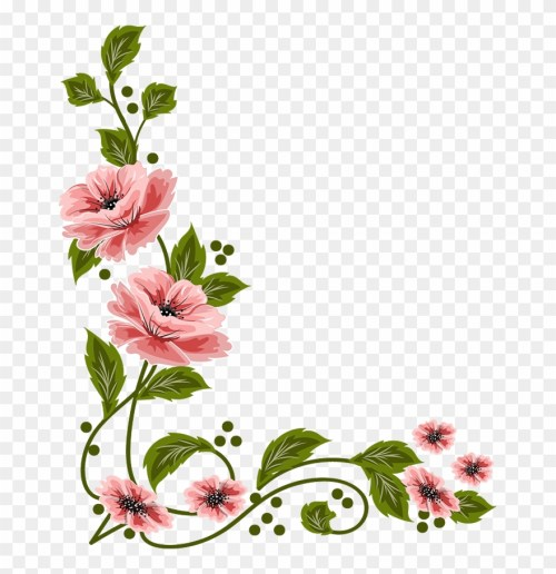 small resolution of vintage flower clipart flower painting flower layout png download