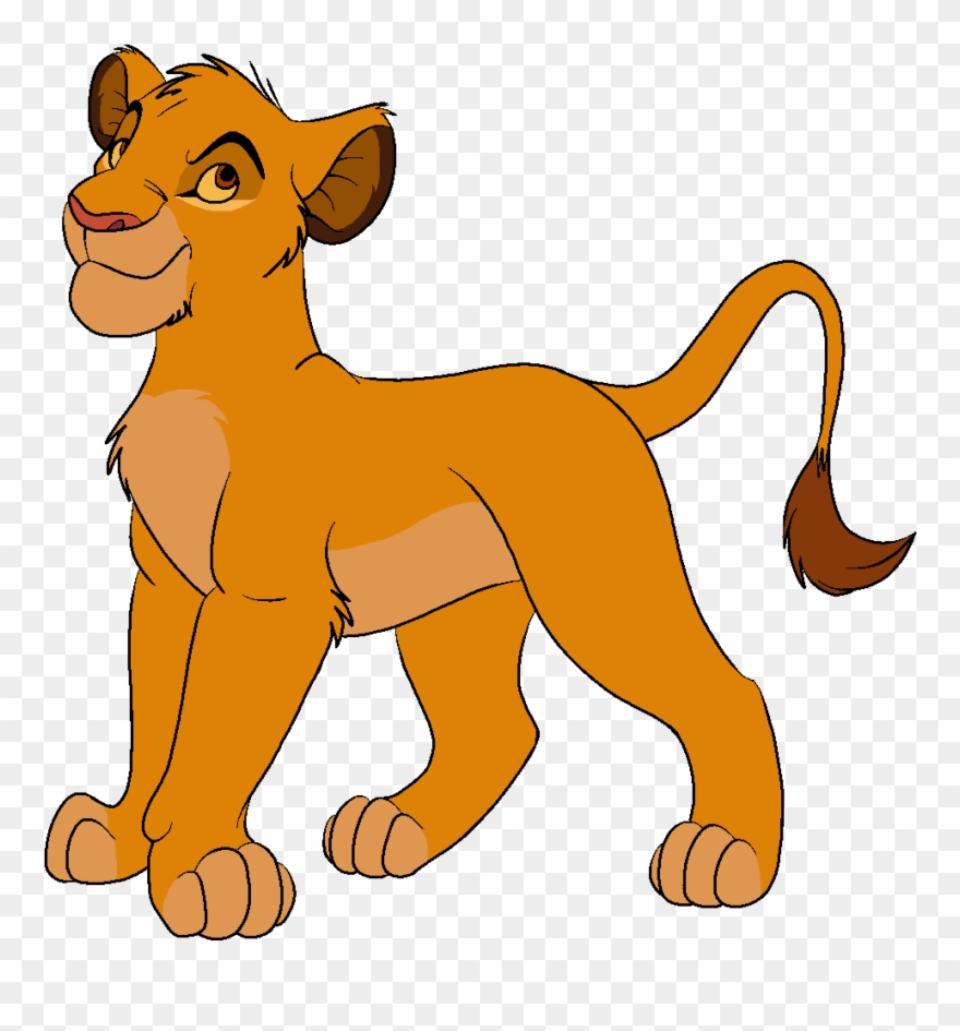 hight resolution of simba looking for critique cartoon clipart