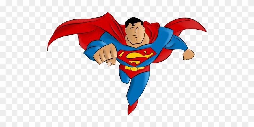 superman clip cartoon banner