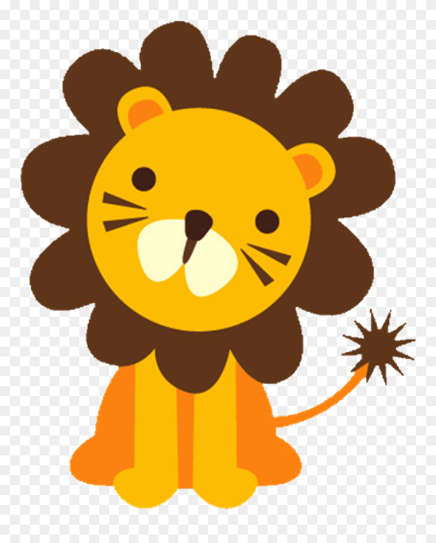 medium resolution of baby lion clipart baface 71 with clipart ba shower big and small animals png