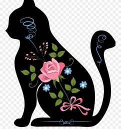 silhouette animals is a downloadable machine embroidery chat assis clipart [ 880 x 1104 Pixel ]