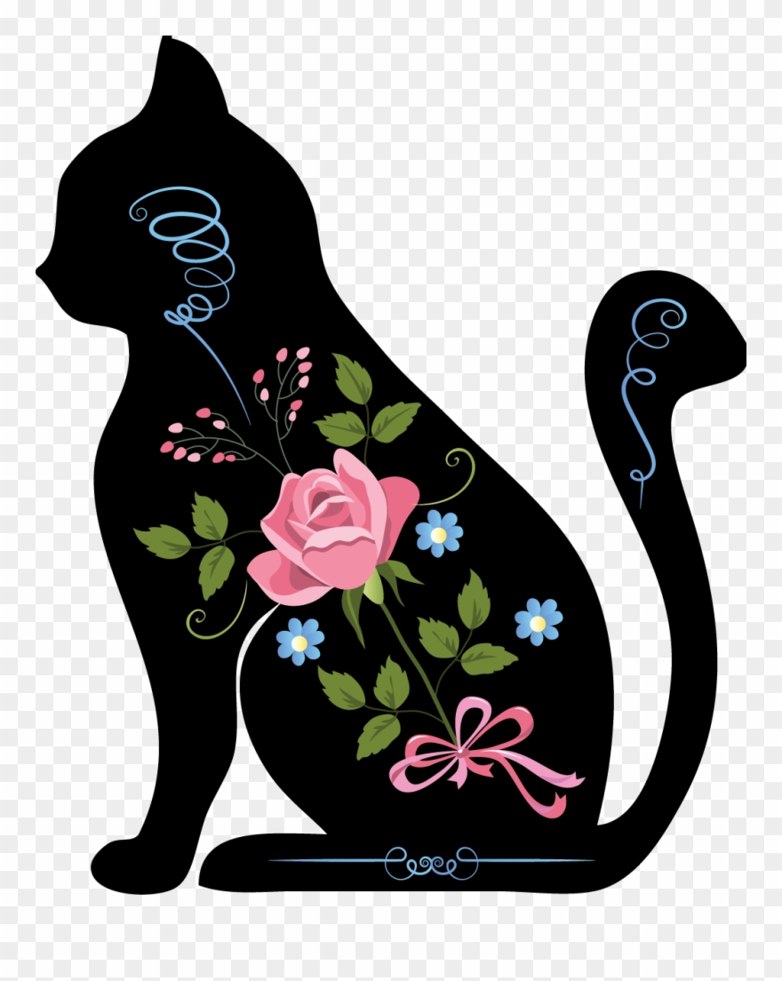hight resolution of silhouette animals is a downloadable machine embroidery chat assis clipart