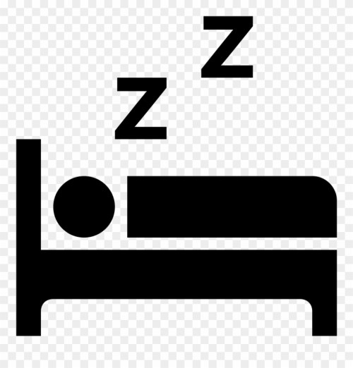small resolution of sleeping clipart cozy bed sleeping in bed icon png download