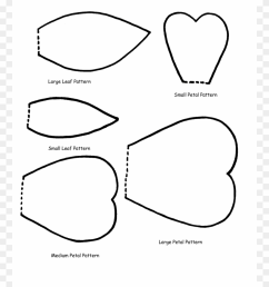 huge collection of flower petals clipart download more giant flower printable templates png download [ 880 x 1178 Pixel ]