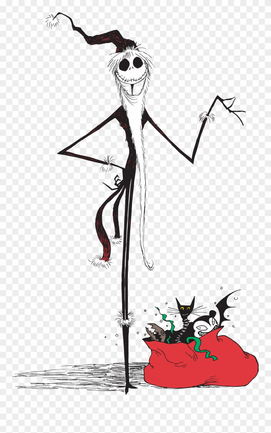 hight resolution of nightmare before christmas jack christmas clipart