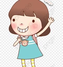 goodbye clipart girl waving good bye cartoon png download [ 880 x 1080 Pixel ]