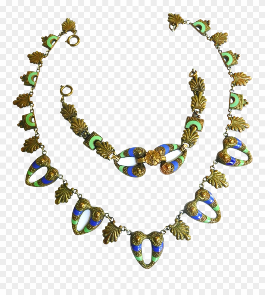 hight resolution of late s egyptian revival necklace clipart