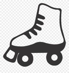 purple clipart roller skate black and white roller skate clip art png download [ 880 x 939 Pixel ]