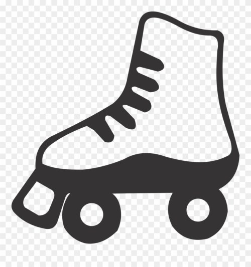 small resolution of purple clipart roller skate black and white roller skate clip art png download