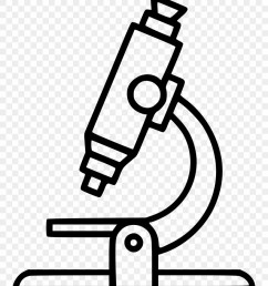 microscope clipart clear black and white microscope clipart png download [ 880 x 1060 Pixel ]