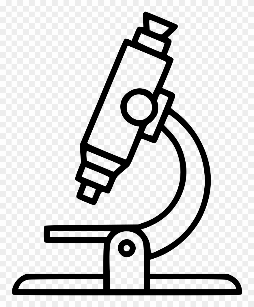 hight resolution of microscope clipart clear black and white microscope clipart png download