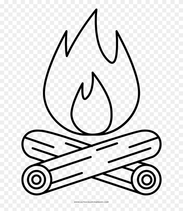 Coloring Book Coloring Book Campfire Page Ultra Pagese - Line Art