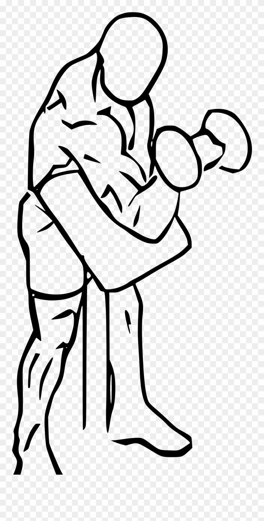 hight resolution of preacher drawing at getdrawings compound bicep exercises clipart