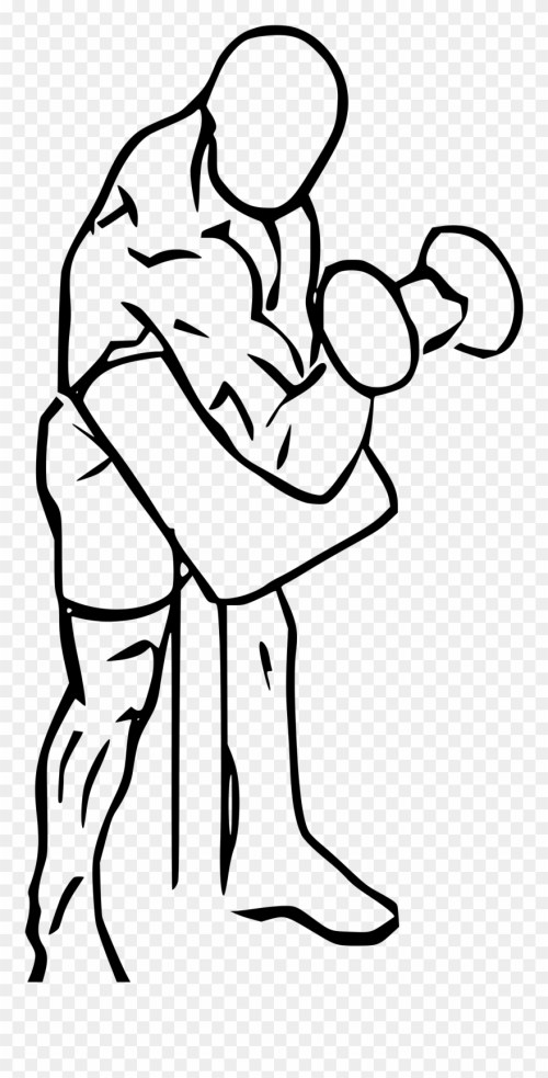 small resolution of preacher drawing at getdrawings compound bicep exercises clipart