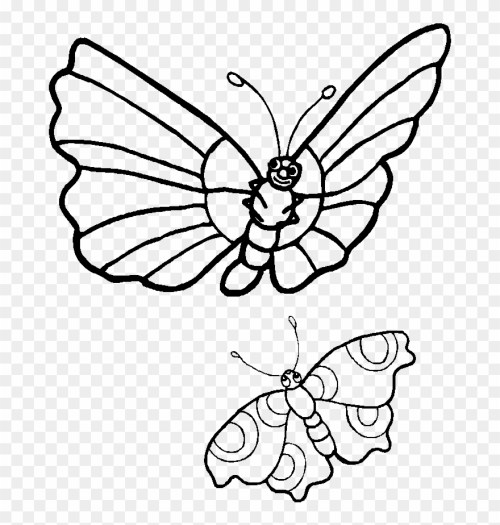 small resolution of coloring pages caterpillars cartoon two butterflies clipart black and white png download
